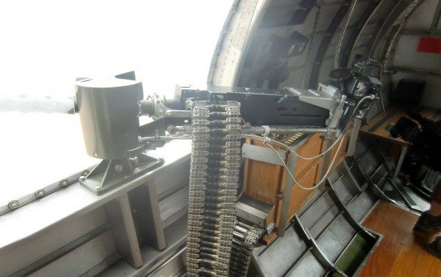 Right side gun of the B-17 Flying Fortress