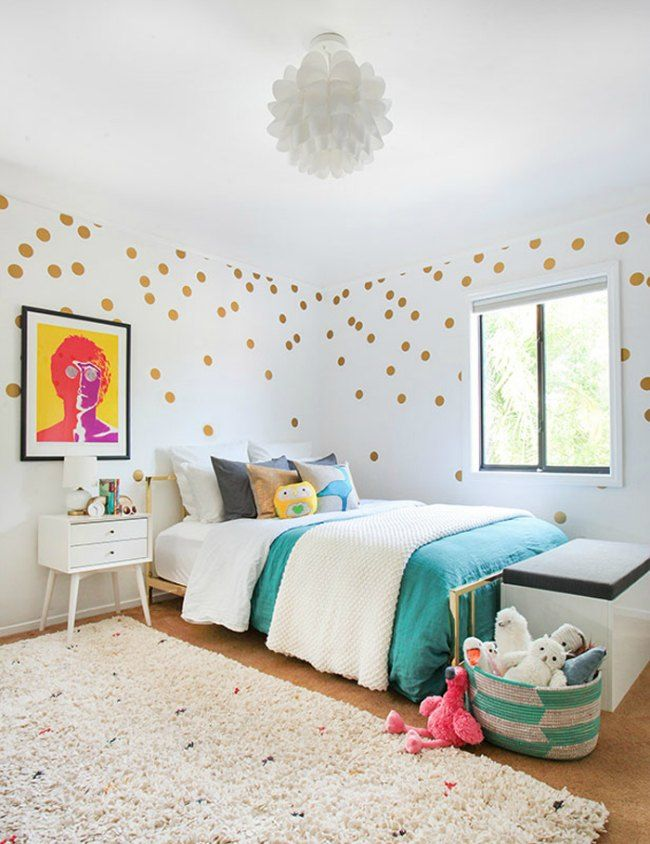 Decorar con lunares de colores | Kids & teenagers bedrooms ...