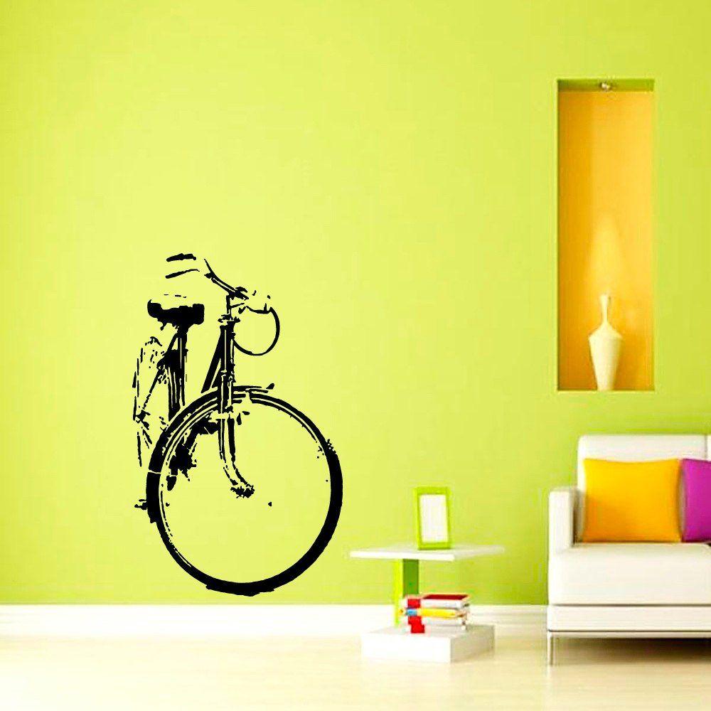 Wall Decals Bicycle Vinyl Sticker Wall Decor Murals Boy Bedroom ...