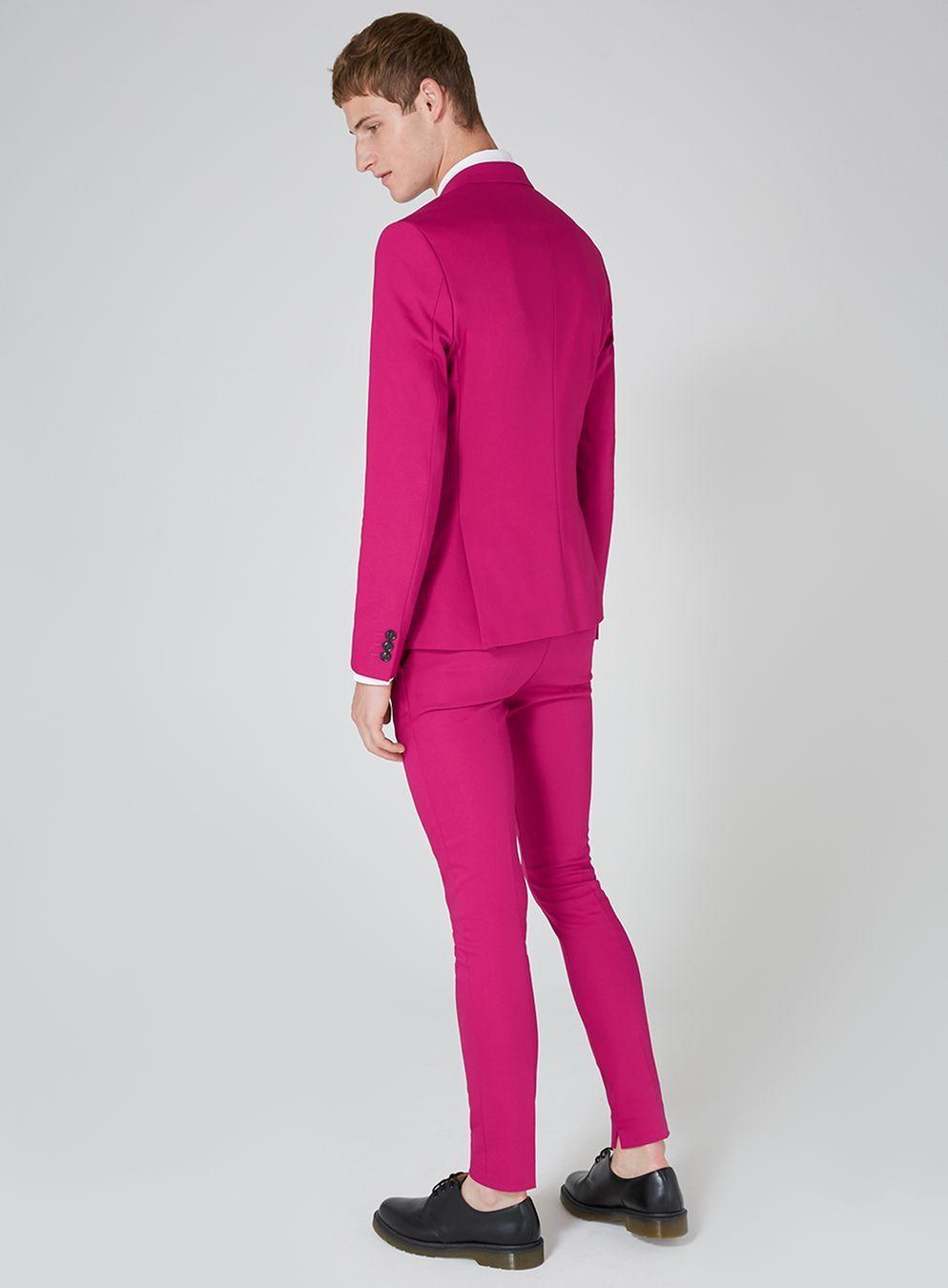 Bright Pink Spray On Suit - TOPMAN | Topman | Pinterest | Bright pink
