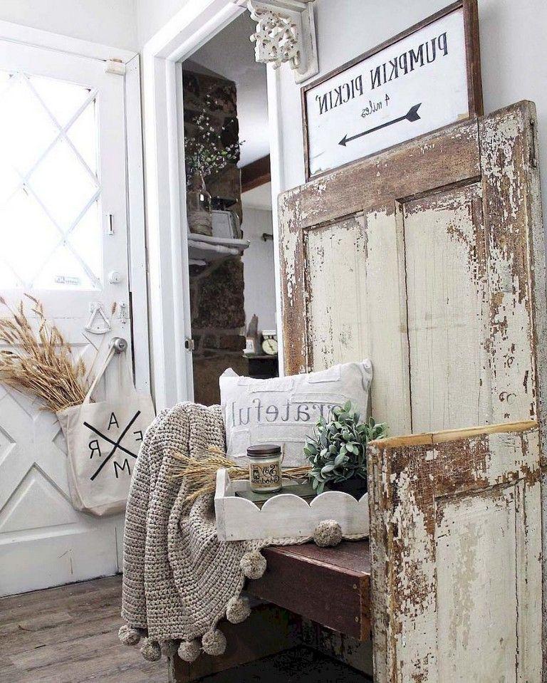 35 Wonderful Rustic Farmhouse Entryway Decorating Ideas Farmhouse Rustic Rusticdecor Farmhouses Shabby Chic Hallway Shabby Chic Entryway Rustic Fall Decor
