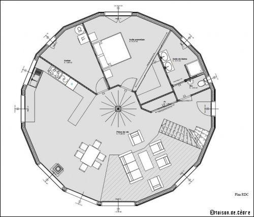 Bevorzugt Une maison en bois, ronde et écologique | Maisons en bois, En bois  VP16