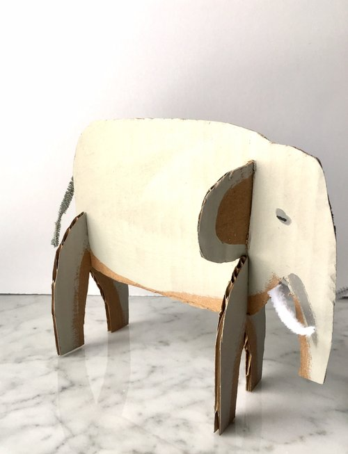 Recycled Cardboard Zoo Animals! — super make it