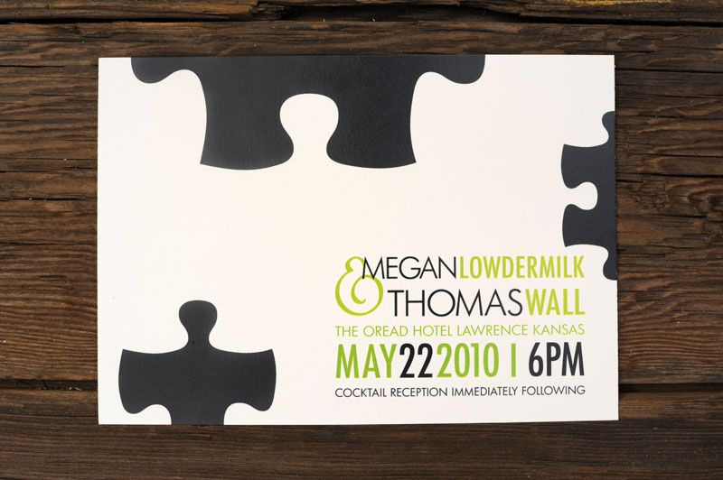 Giant Puzzle Pieces Wedding Invitations Ruff House Art39s