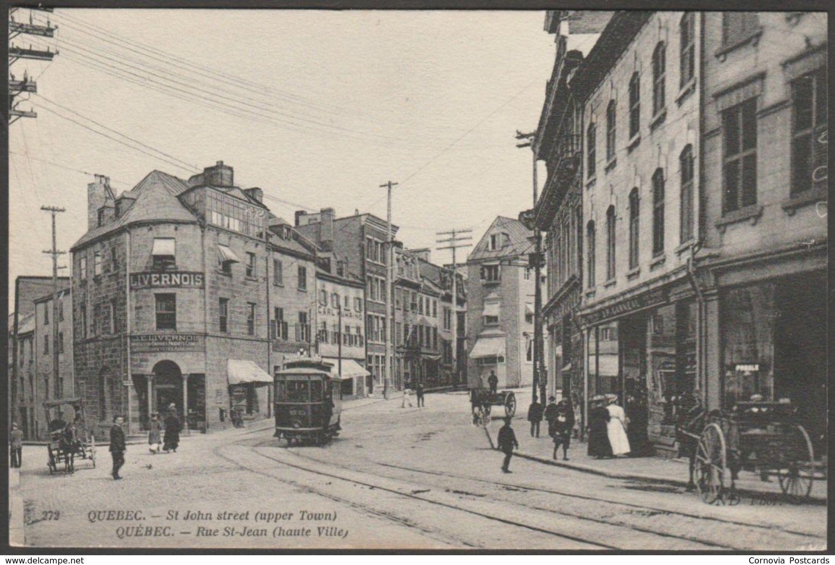 Rue St Jean Haute Ville Quebec Ville Quebec C 1905 Cpa Item