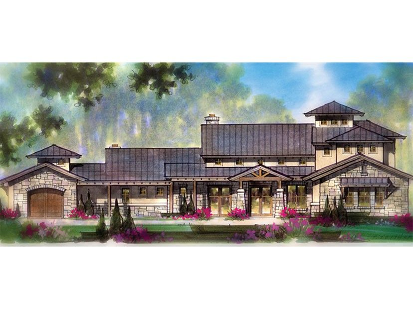 ePlans Prairie Style House Plan  Sprawling Luxury