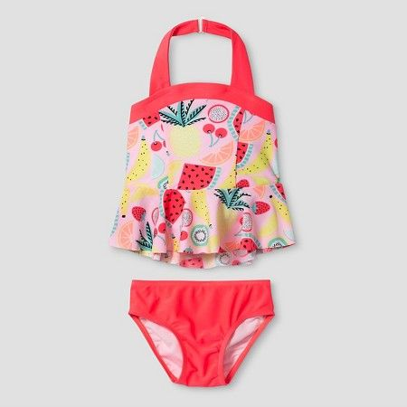 fa6176b29 www.target.com p toddler-girls-halter-top-tankini-set-fruit-cat-jack-pink -  A-51372054