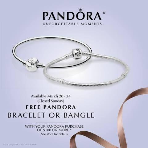 Pandora Free Bracelet Event starts today. Take advantage of this ...