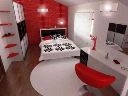 Décoration chambre en couleur rouge - 42 idées mangnfiques