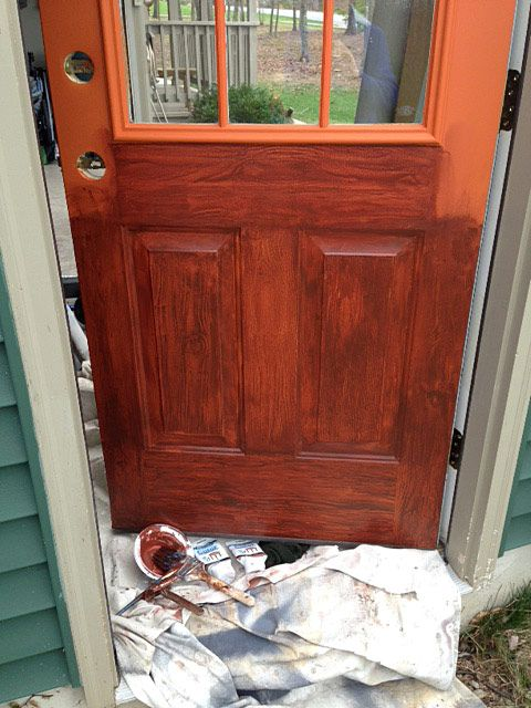 How To Paint A Door To Look Like Wood In 2019 Diy Wood