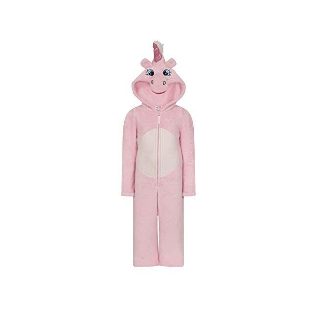 e45a395248c34 Girls Kids Hooded Unicorn Dressing Gown Robe Onesie Fancy Dress Sleepwear  Cosy Christmas Present Idea #boys #clothing