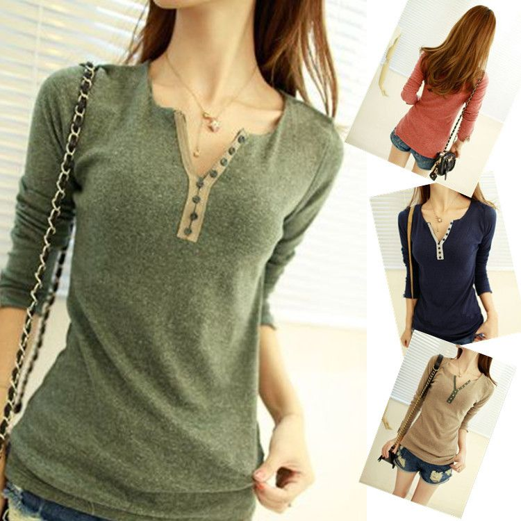 2013 hot selling brand new women's tops tee long sleeve t shirt ...