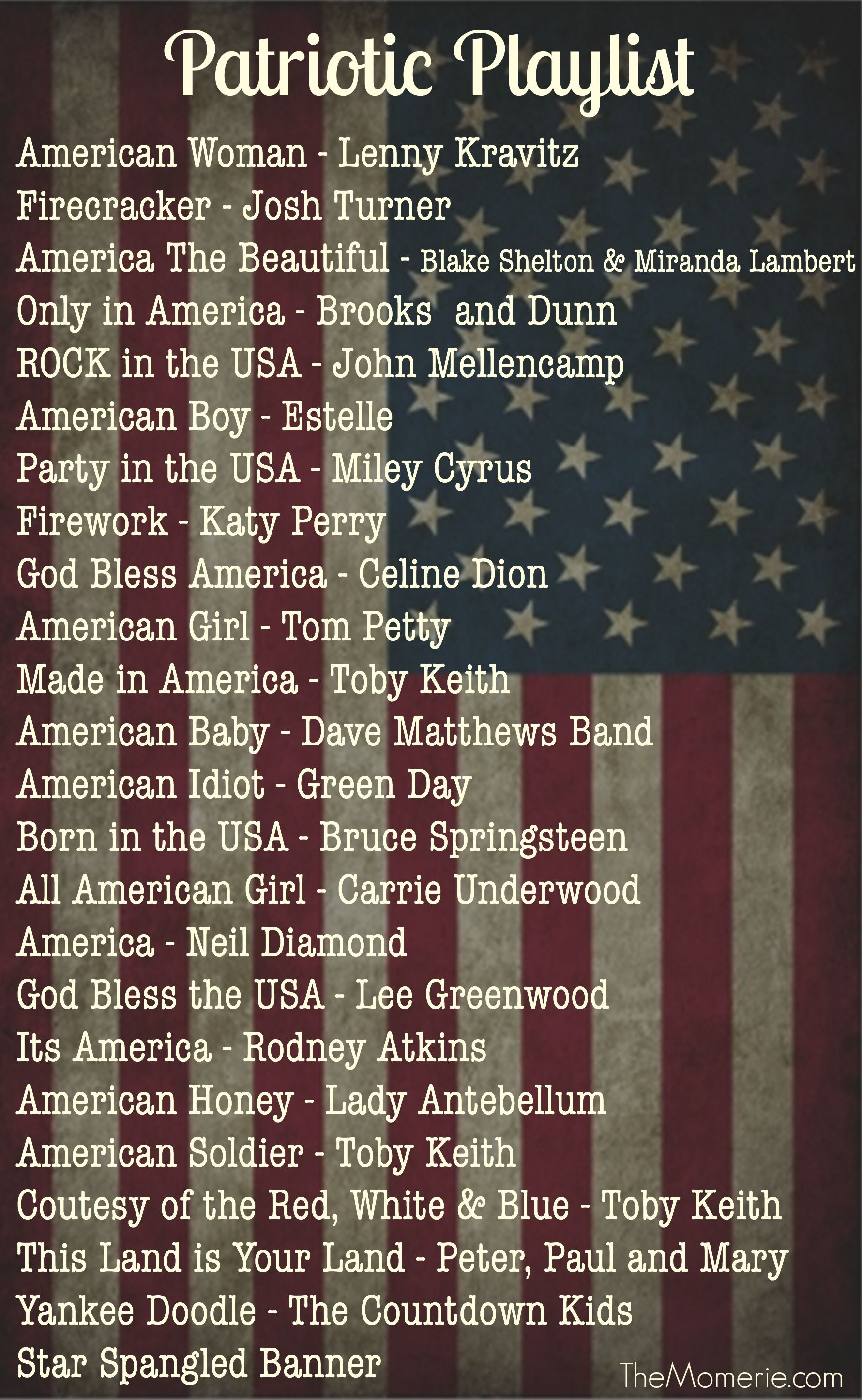 Patriotic Playlist For Your Backyard Party
