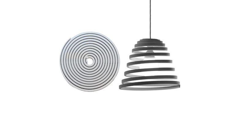 Espirale Lamp by Guillermo Cameron Mac Lean    www - wanduhr für küche