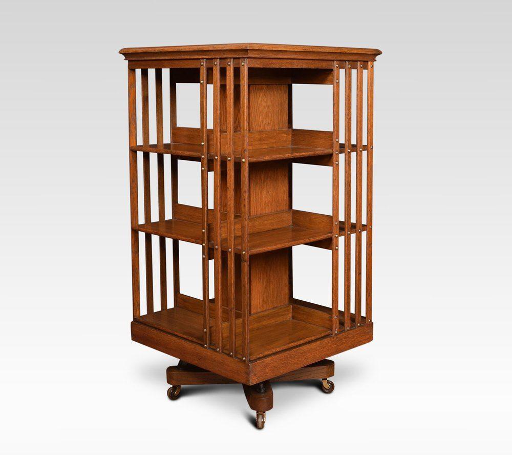 Oak Three Tier Revolving Bookcase Antiques Atlas Revolving