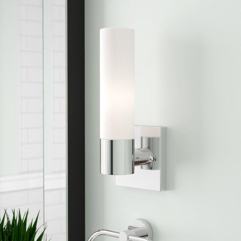 Zipcode Design Kneeland 1 Light Armed Sconce Reviews Wayfair Bathroom Sconce Lighting Sconces Bathroom Vanity Lighting