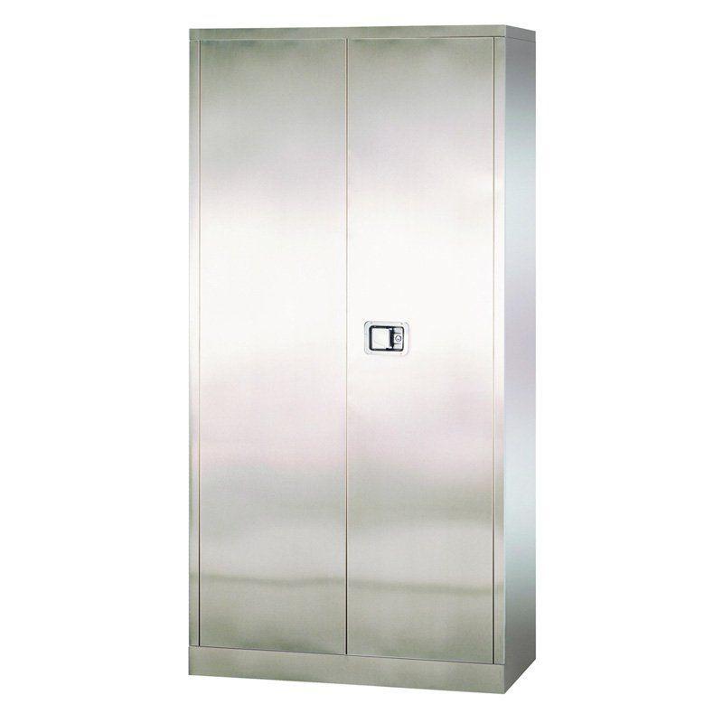 Edsal Stainless Steel Paddle Lock Storage Cabinet - SA4D361872-XXA