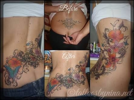 bb65c3489 lower back tattoo cover ups - Google Search | Tattoos | Cover tattoo ...