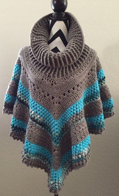 Vintage Poncho Crochet Pattern By Andreacrochetdesign On Etsy Stricken Poncho Muster Hakeln Poncho Hakeln