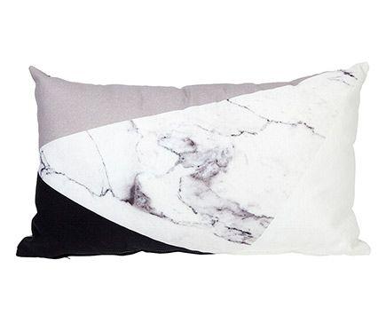 Cojín de sofá y cama TRIANGOLO MARMOL GRISES - Leroy Merlin