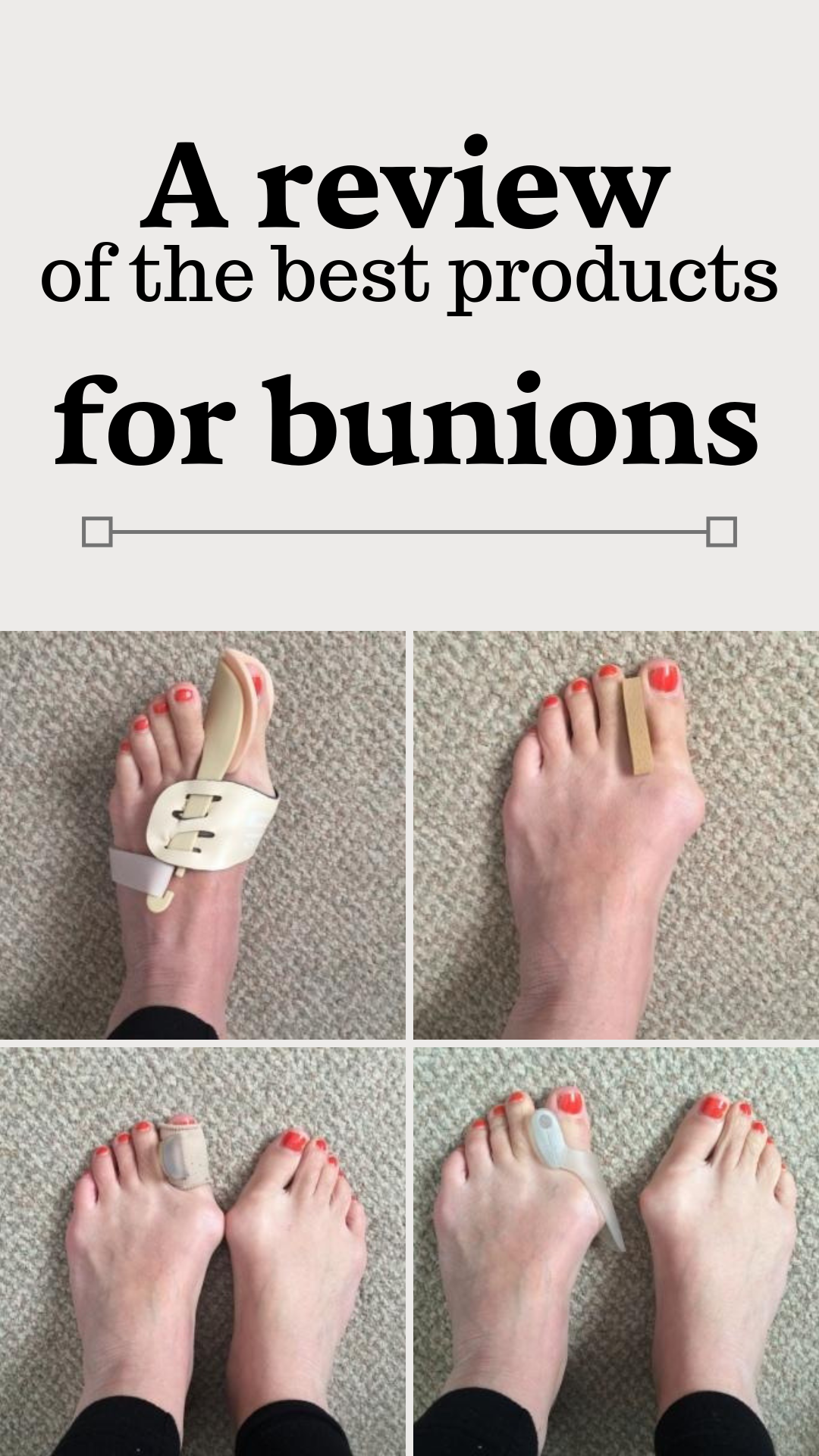 Review Of Products For Bunions Best Correctors Separators And Splints Bunion Remedies Bunion Bunion Shoes