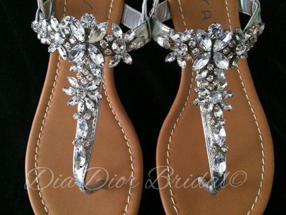 Crystal Embellished Sandal Rhinestone Wedding By Diadiorbridal 45 00