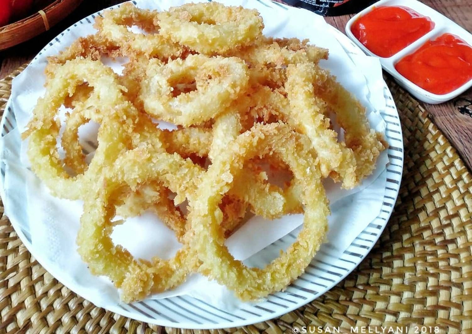 Resep Onion Rings Oleh Susan Mellyani Resep Resep Makanan Resep Saus Sambal