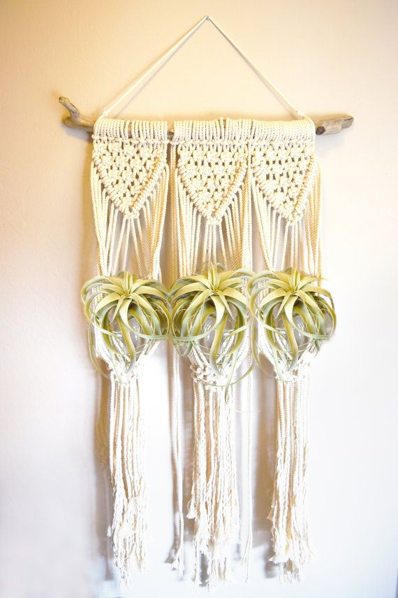 Large Macrame Plant Hanger Wall Hanging 3 by TreehausCollective ...