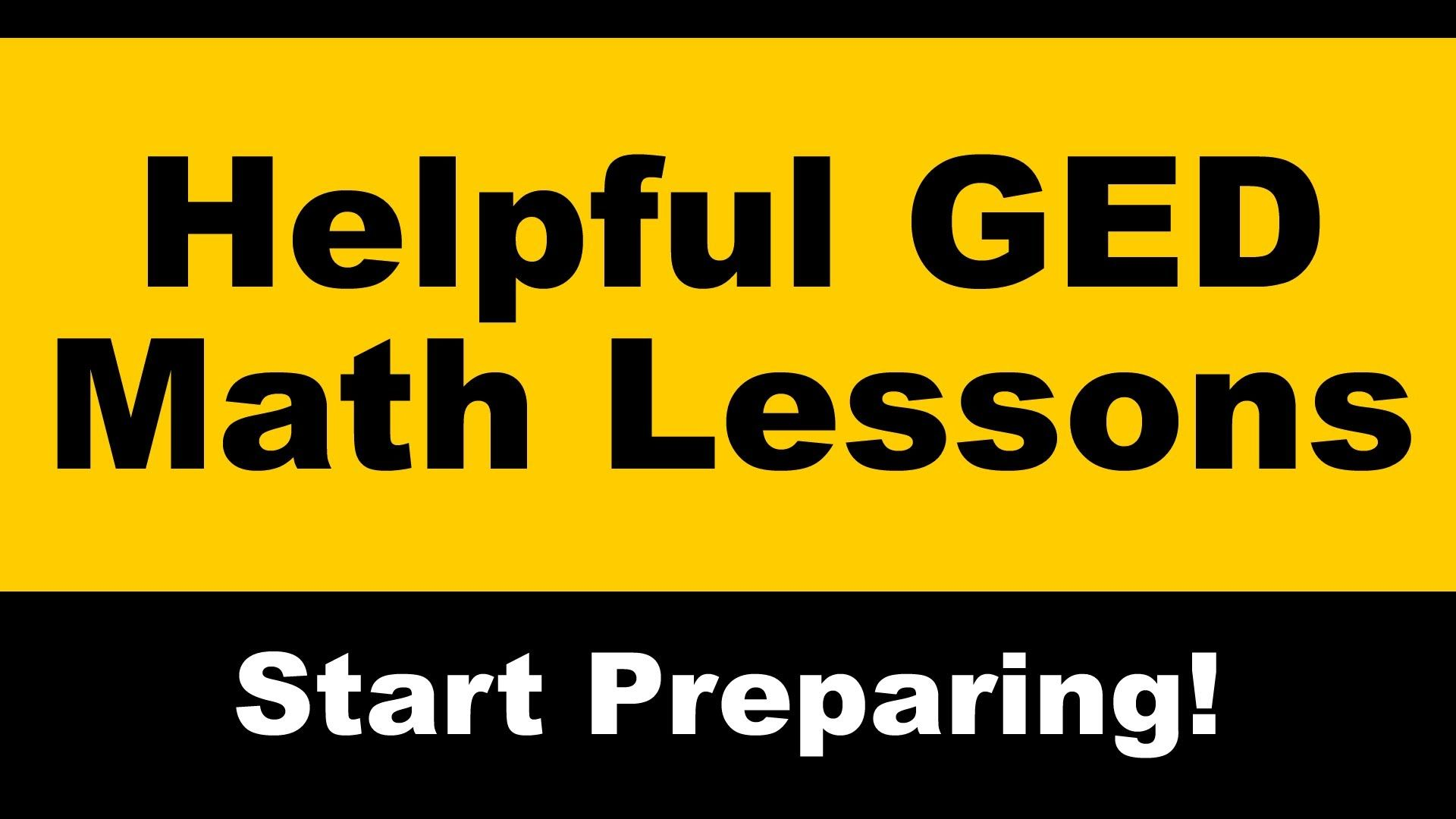 Finding The Right Ged Math Lessons To Prep For The Ged Is Essential These Ged Test Answers Are