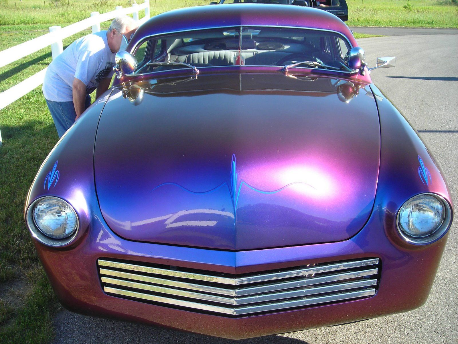 Gorgeous mercury it has the most incredible paint job it s either blue or purple depending on the angle