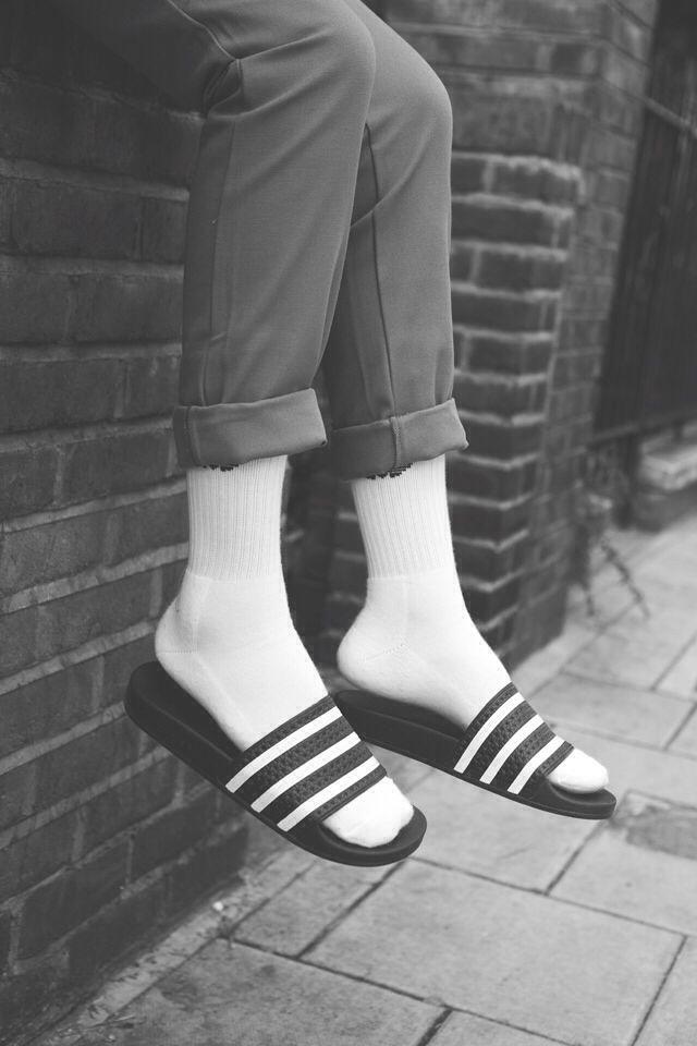 8fb1707eea93 Adilette with white socks  loveit