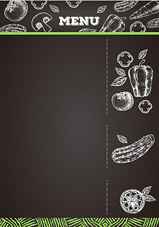 Creative Menu Background Material | Food menu design, Menu ...