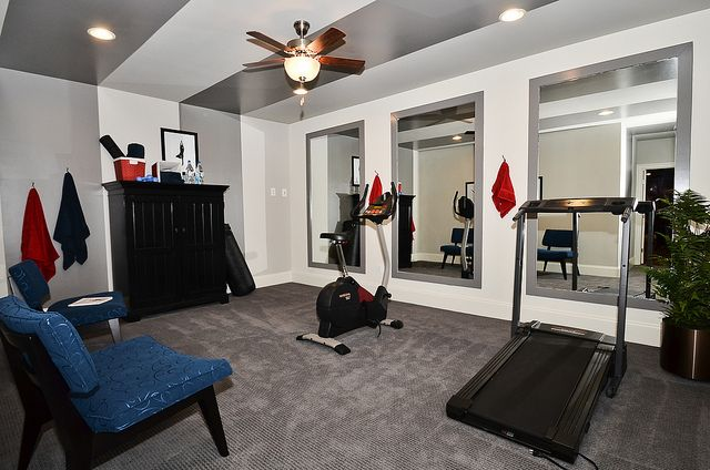 Basement exercise room my safe haven pinterest salle