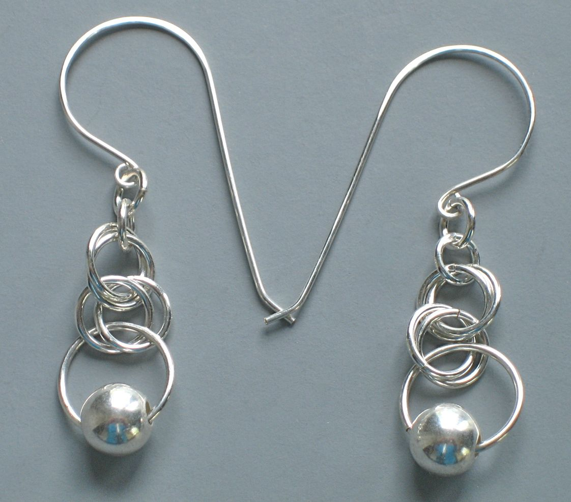 Silver-Filled earrings on 20 gauge hand forged silver filled ear ...