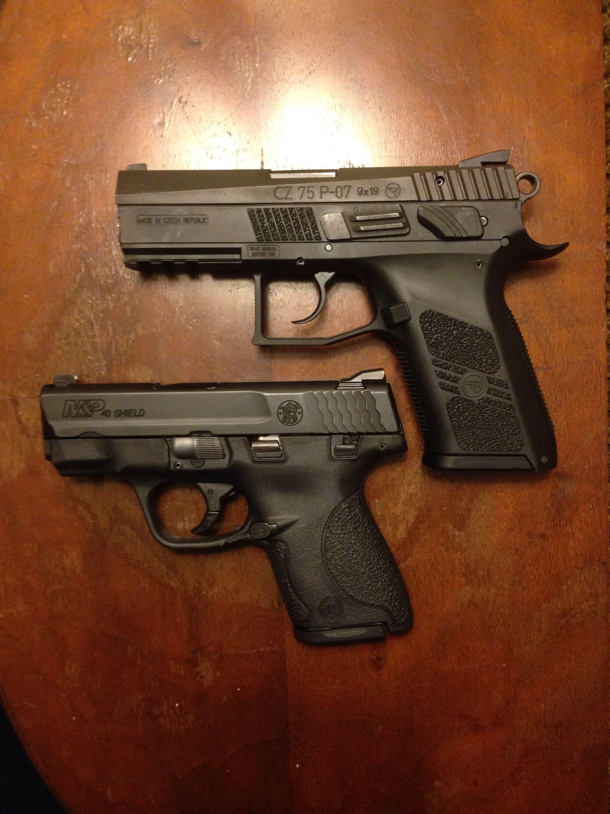 CZ 75 P-07 Duty in 9mm and S&W M&P Shield in  40 S&W | Bear