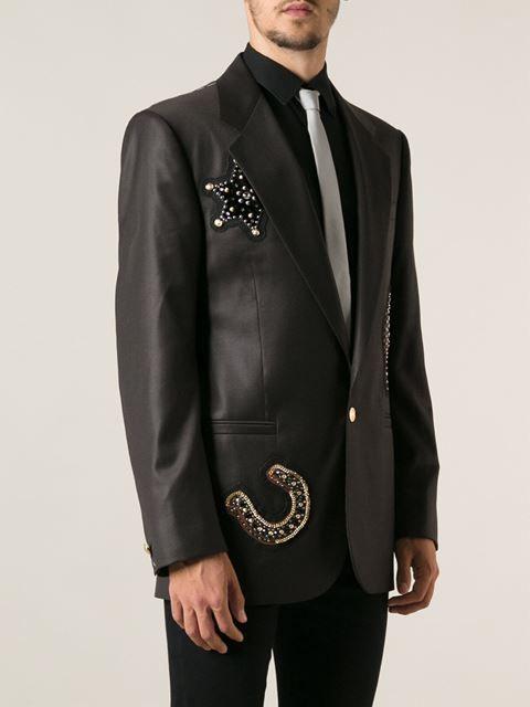 16f2a86adc2 Versace Embossed Blazer - Elite - Farfetch.com