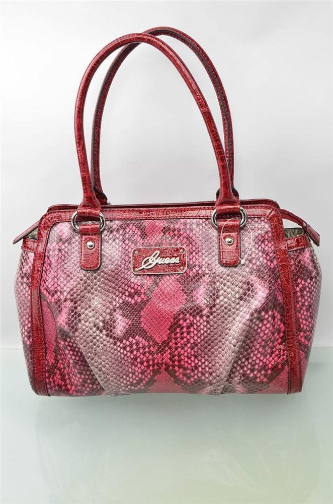 Guess Purse Womens Lizzy Red Wild Thing Snake Skin Hand Bag Satchel Bags  NWT  Guess  Satchel 8331874222fb7