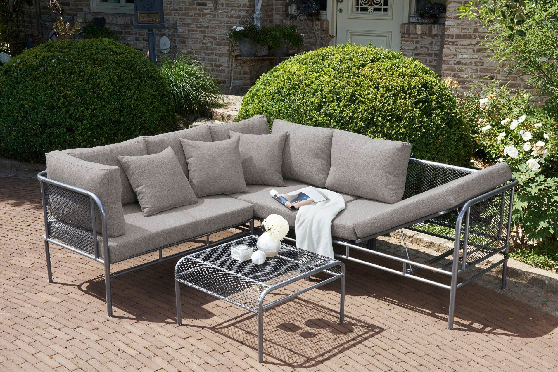 Greemotion Loungeset Toulouse 3 Tlg Ecklounge Tisch 65x65 Cm
