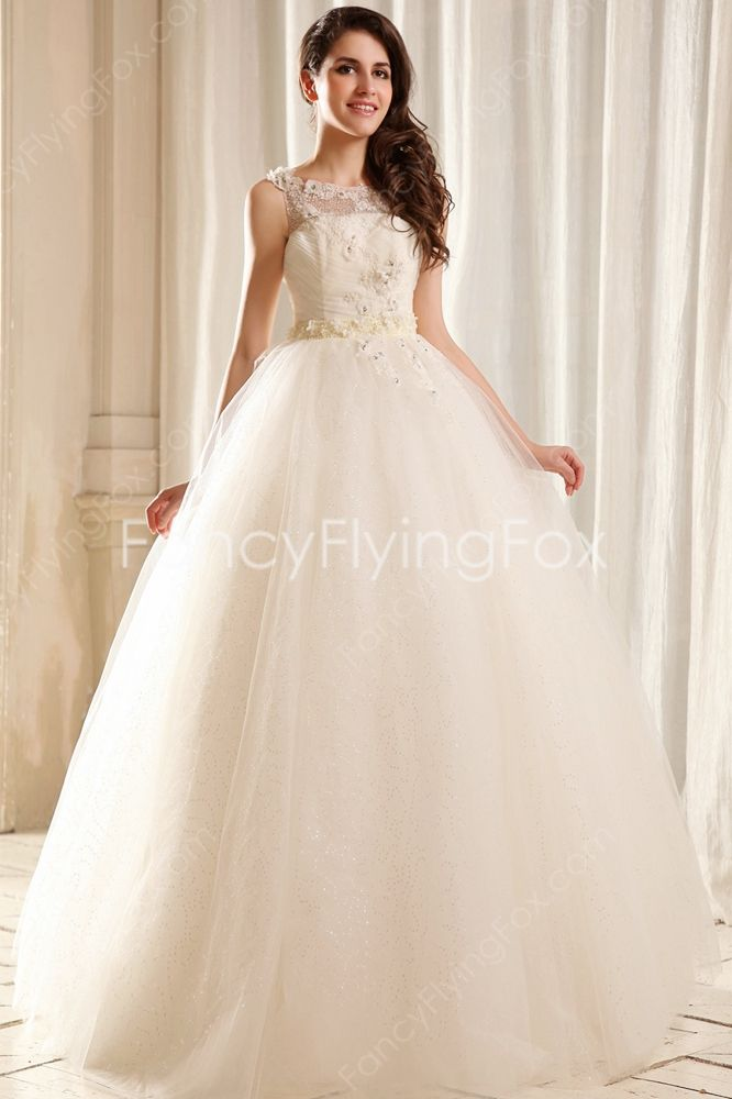 Stunning Jewel Neckline Full Length Princess Sweet 15 Dresses