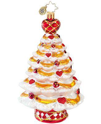 Christmas Tree Disease 2020 Christopher Radko Christmas Ornament, From the Heart   Heart