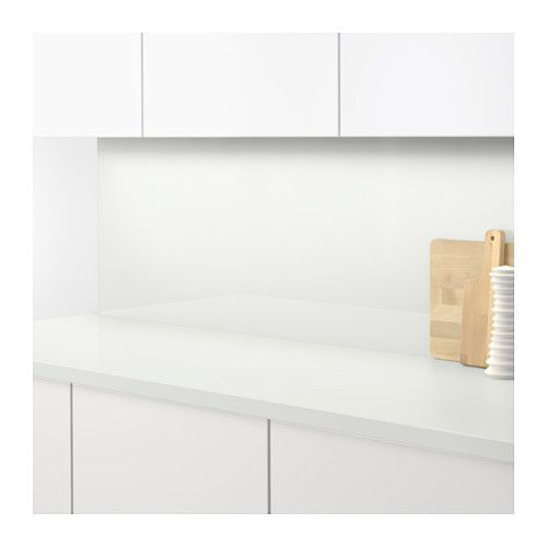 SIBBARP Maatwerk wandpaneel, wit, hoogglans laminaat Keuken - k che wandpaneel glas
