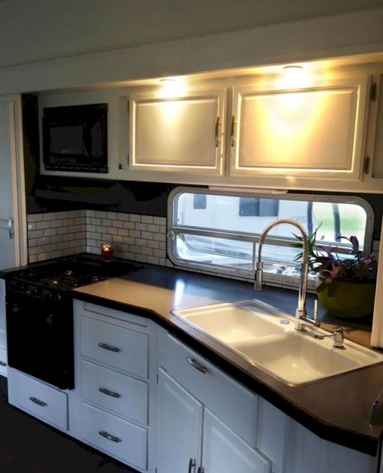 51 Small Kitchen Design Ideas That Make The Most Of A Tiny: Nice Small RV Kitchen Design Ideas