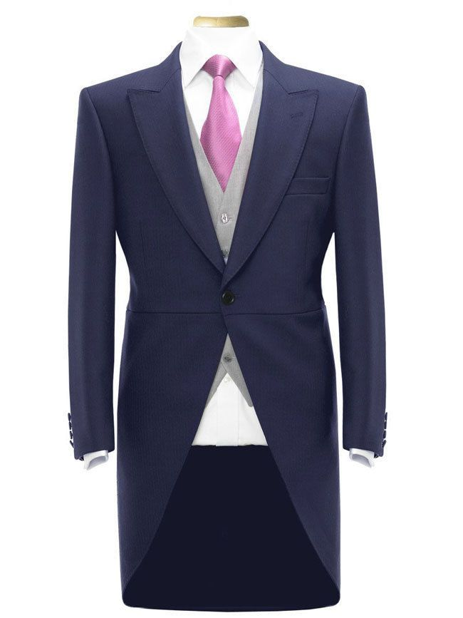 Details About Mens Boys Tail Coat Navy Blue Tailcoat Tails Wedding Prom Morning Suit