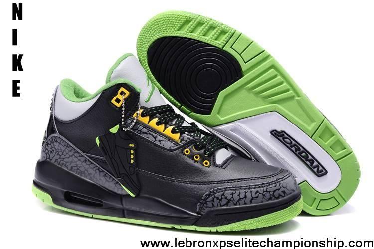 Buy Cheap Air Jordan 3 Black Electric Green-Yellow For Sale  5f49957e9