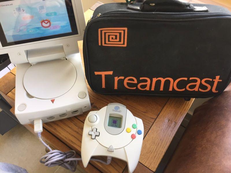 Treamcast Portable Dreamcast #retrogaming #HotDC White model