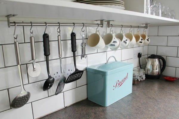 Cocina, colgar utensilios