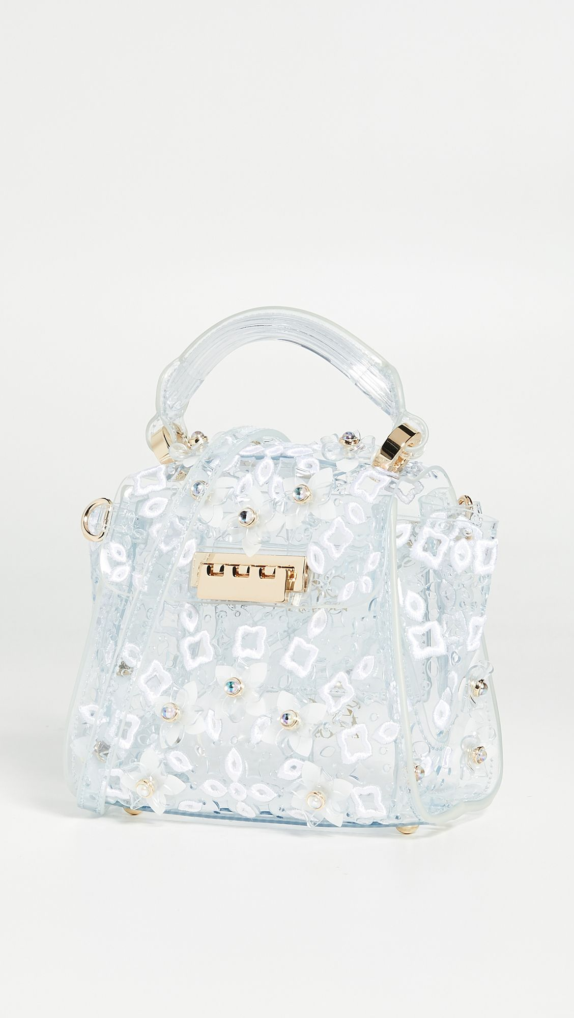 Eartha Mini Top Handle Crossbody Zac Posen Clear Bags Mini