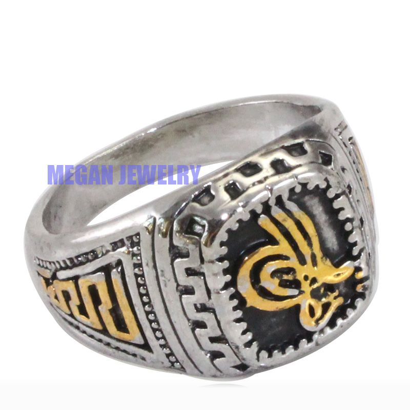 Ottoman silver plated ring  Islamic symbol ring  Turkish history