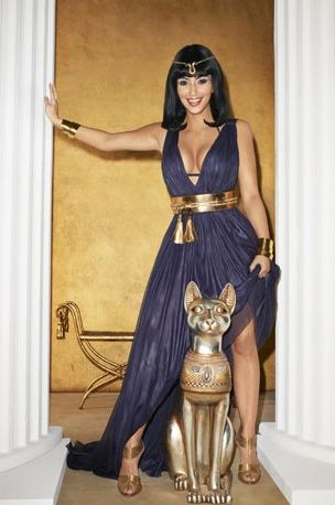 Cleopatra Costume  solid maxi dress with gold accessories ... b461a45cd2f