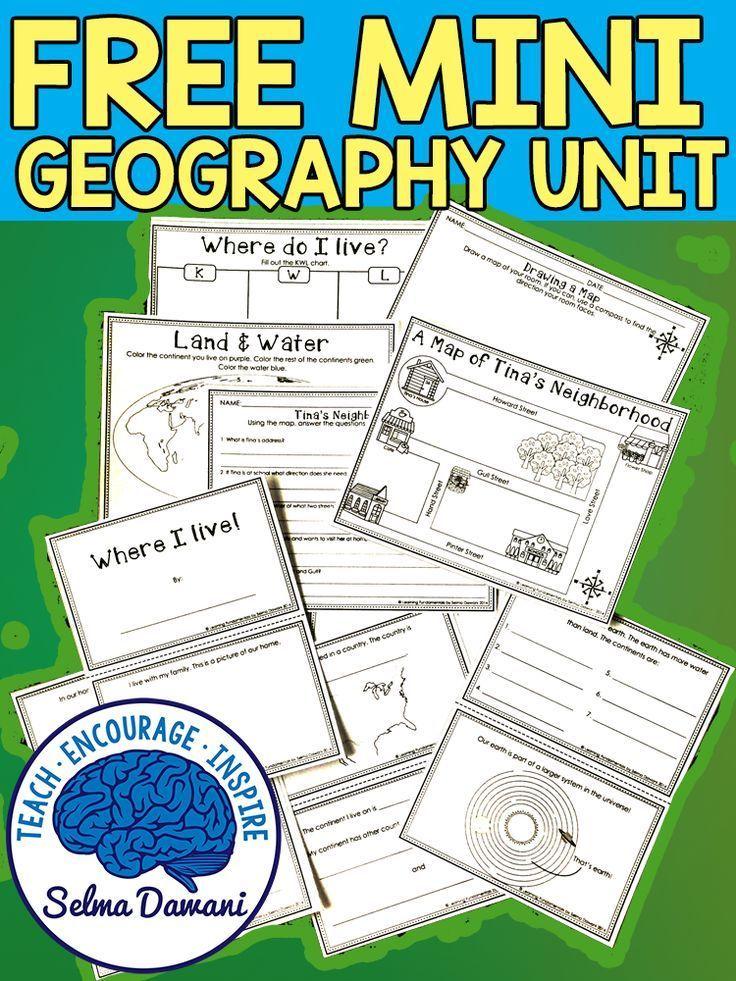 Free Kindergarten Geography Worksheets
